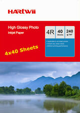 100Sheets +60 Free 230 240Gsm 6x4 Glossy Photo Paper Inkjet A6 10x15cm 4x6 UK
