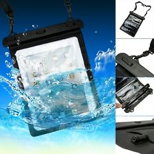 Waterproof Pouch Bag Case w/ 3.5mm Earphone Jack for iPad 2/3/4 Air 10'' Tablet