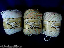 3 - 3 oz.(85 g) Skeins LILY Sugar 'n Cream 4-Ply 100% Cotton Yarn-Made in Canada