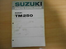 Teile-Katalog  Suzuki TM 250 ( J, K) parts catalogue de pieces