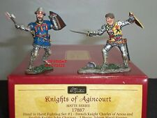 Britains 17887 français + anglais chevaliers hand to hand fighting toy soldier set