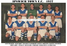 Ipswich Town f.c.team impresión 1957-58 (phillips/millward)