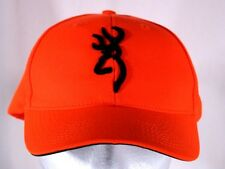 Browning Neon Orange and Black Adjustable Trucker Ball Cap Hat Hunting Safety