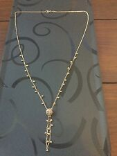 Heavy 18 Ct Gold Drop Style Necklace