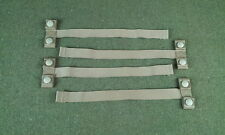 "New MOLLE PALS Straps 1"" Webbing 12"" Long With Snaps Lot of 4"