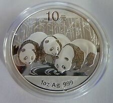 2013 Silver Chinese Panda 1oz .999 Silver Bullion Coin - China 10 Yuan