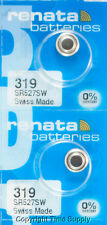 2 pcs Renata Watch Batteries 319 SR527SW SR527 527 0% MERCURY