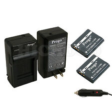 Progo 2 x  Li-90b Battery + Charger Kit For Olympus XZ-2 SH-50 Tough TG-1 TG-2