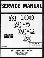 Manual De Servicio Para Hammond Organ M100, M-3, M-2, Serie M En Cd