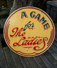 Vintage Hand Painted  Double Sided Fairground   Sign.