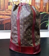 "Authentic LOUIS VUITTON 17"" RUBY Duffle XL Backpack LV Monogram Gym Travel Bag"