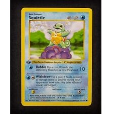 Squirtle 35/102 1st Ed First Edition Base Set Pokemon Card