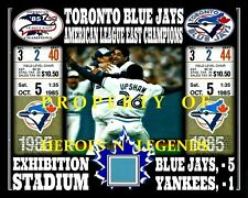 TORONTO BLUE JAYS 1985 AMERICAN LEAGUE EAST CHAMPS PHOTO EXHIBITION STADIUM SEAT