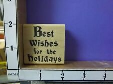best wishes for the holidays saying elegant rubber stamps 30i
