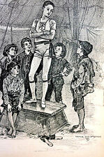 Arthur Jule Goodman CIRCUS BOYS Acrobats 1890 Children Art Print Matted