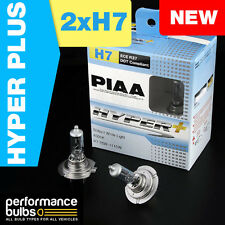 New! PIAA Hyper Plus H7 Headlight Bulbs 4000K Blue-White Light H7 55W X 2 Duo Bo
