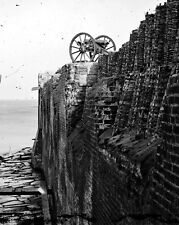New 8x10 Civil War Photo: Breach Patched Wall with Gabions at Fort Sumter, S.C.