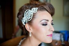 Bridal Hair Comb Diamante ivory pearl Vintage hair piece ex display