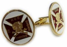 Knights Templar Crusaders Skull Crossbones Masonic Cufflinks Cuff Links Set Pair