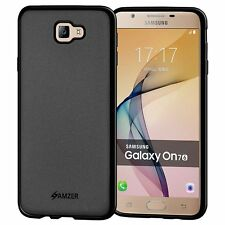 AMZER Pudding Matte TPU Case Back Cover Galaxy On7 2016 J7 Prime On Nxt - Black