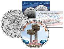 1964 NY WORLD'S FAIR 50th Anniversary OBSERVATION TOWERS Coin JFK Half Dollar US