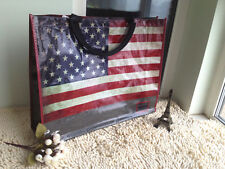 Vintage American National Flag Design Water Repellent ECO Bag 100% Woven PP Made