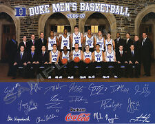 2006-2007 DUKE BLUE DEVILS 8X10 TEAM PHOTO SCHEYER ZOUBEK  MCROBERTS HENDERSON