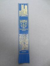 BOOKMARK Leather WESTMINSTER ABBEY London The Nave Blue / Gold