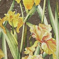 Camelot Cottons Abby's Garden 21041 206 Green Iris Cotton Fabric FREE US SHIP
