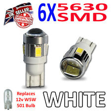 Fiesta 08-on Mk7 ST LED Side Light SUPER BRIGHT Bulbs 5630 SMD with Lens 501