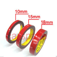 3M Double Face Sided Tapes 10mm,15mm,18mm 3Meters for Indoor Outdoor rock panel