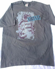Nirvana Kurt Cobain Smells Like Teen Spirit T-Shirt. Grey. Size L. New