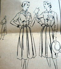 LOVELY VTG 1950s DRESS VOGUE Sewing Pattern