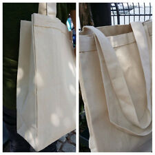 "2  Gusseted canvas tote bags, 12oz canvas plain tote, 22"" long handle, diy tote"