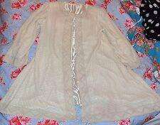 Perle & Perline REAL CREMA giacca sartoriale dal taglio lungo seta vintage 14 SAVIO Madre della Sposa
