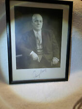 George Meany AFL CIO Leader Autographed Photo Framed w/Leo Hessler Signature