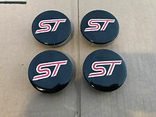 NEW SET OF 4 FORD ST BLACK RED CENTER WHEEL HUB CAPS EMBLEM COVER 6M21-1003-AA