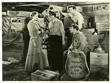 """LE VOILIER MAUDIT (EBB TIDE)"" Photo orig. O. HOMOLKA,Ray MILLAND,Frances FARMER"