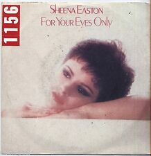 "SHEENA EASTON - For your eyes only - VINYL 7"" 45 LP ITALY 1981 VG+ COVER  VG-"
