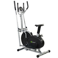 Goplus 2 IN 1 Elliptical Bike Dual Cross Trainer Machine Exercise Upgraded