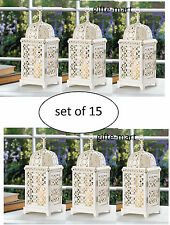 15 white Moroccan Marrakech Lantern Candle holder lamp wedding table centerpiece