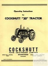 Cockshutt 30 Tractor Operating Owners Manual Oliver