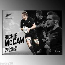 RICHIE MCCAW NEW ZEALAND ALL BLACKS FAREWELL TO A CHAMPION RETIREMENT PRINT