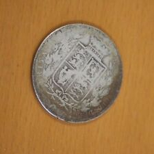 1881 Silver Half Crown Coin British Queen Victoria