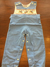 Orient Express boys long jumper size 2 horsey smocking, blue cord