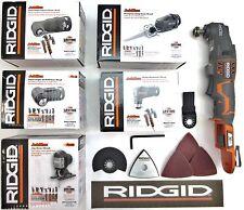 RIDGID 18v 18 VOLT CORDLESS JOBMAX +5 HEAD SET KIT(DRILL HAMMER IMPACT JIG RECIP