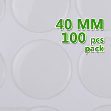 100PCS 40mm Round Transparent Epoxy Domes Resin Cabochon Sticker C1909