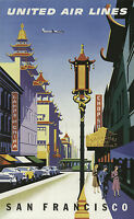 021 Vintage Travel Art Poster  San Francisco *FREE POSTERS