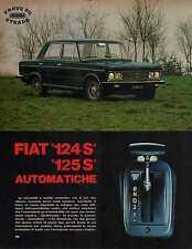 Z18 Ritaglio Clipping del 1972 Prove su strada Fiat 124 S e 125 S Automatiche