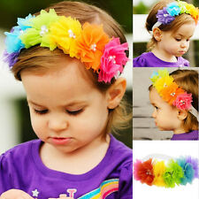 US Kids Baby Girl Toddler Lace Flower Hair Band Headwear Headband Accessories